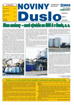 2014 číslo 3 - Noviny Duslo