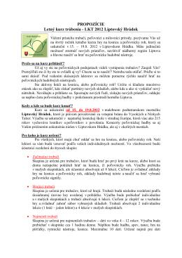 Letný kurz hry na lesnicu a lovecký roh - 2010