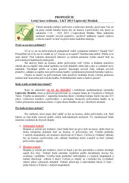 Propozície LKT 2013