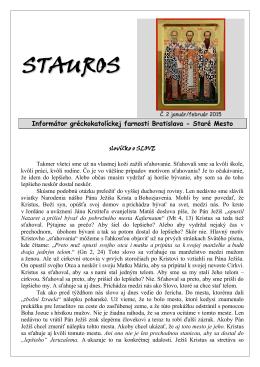 Stauros-2015-2 - Farnosť Bratislava Staré Mesto