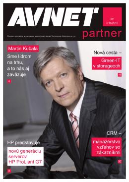 15. vydanie nášho časopisu Avnet Partner.