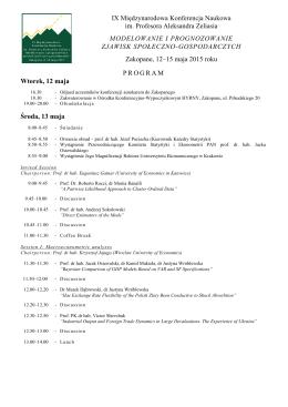IX Międzynarodowa Konferencja Naukowa im. Profesora