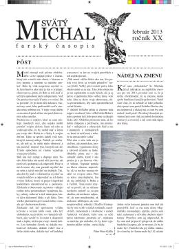 Časopis - Farnosť sv. Michala