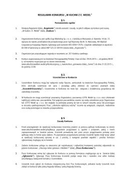 Regulamin - W Kuchni z Wedel