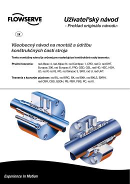Všeobecný návod na montáž a údržbu konštrukčných častí stroja