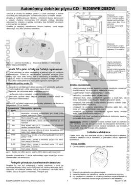 EI208(D)W - Autonómny detektory plynu CO