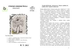 8 / 1– 2013 - Stredná odborná škola Pruské