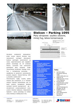 Flyer Parking - BTE Stelcon GmbH