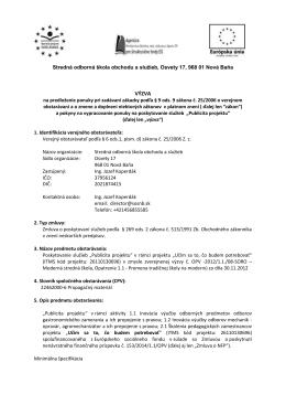 VÝZVA - Stredná odborná škola obchodu a služieb, Osvety 17, Nová