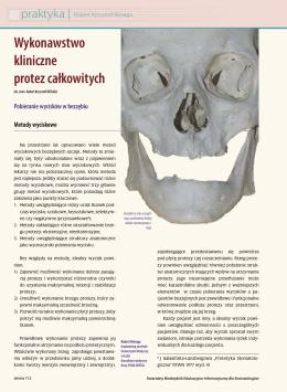 Wykonawstwo kliniczne protez całkowitych