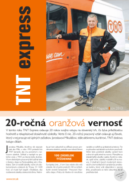 20-ročná vernosť oranžová
