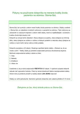Stoma-QoL - Coloplast