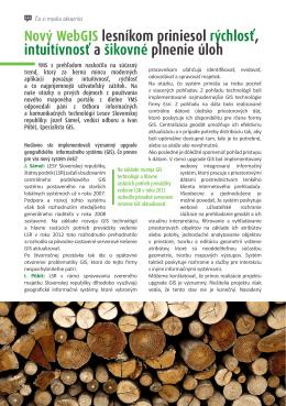 Rozhovor Lesy SR v PDF