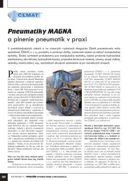 Pneumatiky MAGNA a plnenie pneumatík v praxi