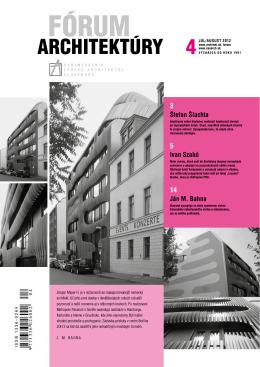 Fórum architektúry 4/2012