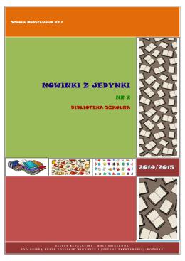 NOWINKI Z JEDYNKI - Szkoła Podstawowa nr 1 w Zielonej Górze