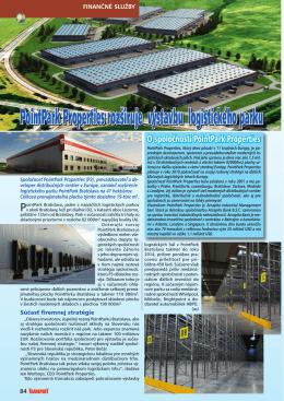 PointPark Properties rozširuje výstavbu