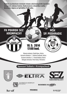 FK POKROK SEZ KROMPACHY MŠK SP. PODHRADIE 18. 5. 2014