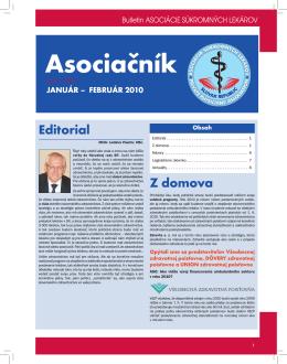 Asociačník 1/2010 - Asociácia súkromných lekárov SR
