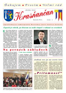 Krasňančan 3/2010 - Mestská časť Košice Krásna
