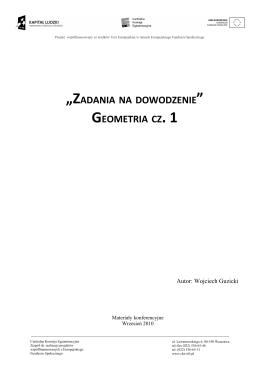 """""""ZADANIA NA DOWODZENIE GEOMETRIA CZ. 1"""