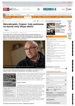 Sztuczkowski, Cognor: huty podnoszą na wyrost ceny skupu złomu