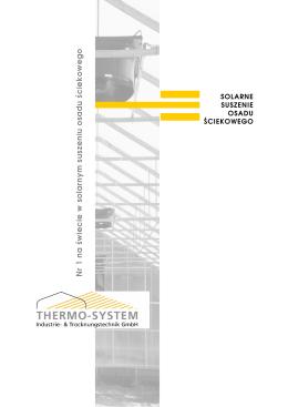 Thermo-System Solarne Suszenie Osadu Ściekowego