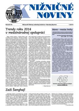 pdf verzia KN2014-1 - Štátna vedecká knižnica v Banskej Bystrici