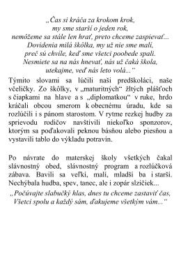 28.06.2013 Príspevok vedenia MŠ Jasov