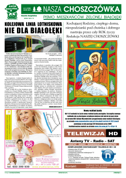 nie dla Białołęki - Stowarzyszenie Nasza CHOSZCZÓWKA Pismo