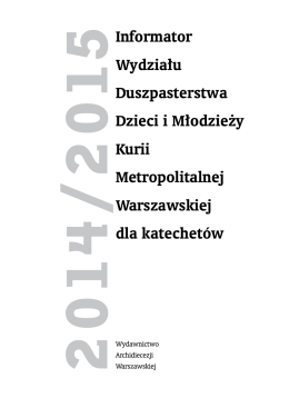 Informator katechetyczny 2014-2015