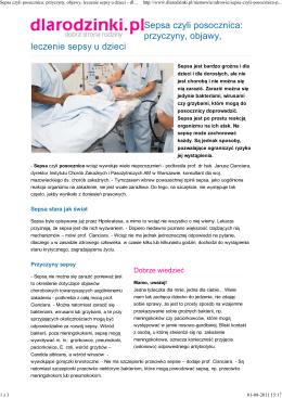 Sepsa czyli posocznica: przyczyny, objawy, leczenie