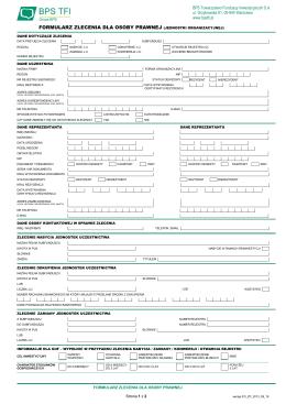 formularz zlecenia dla osoby prawnej (jednostki