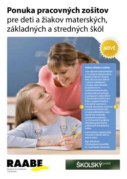 Ponuka pracovných zošitov pre deti a žiakov materských