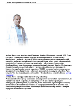 Lekarze Medycyna Naturalna Andrzej Janus