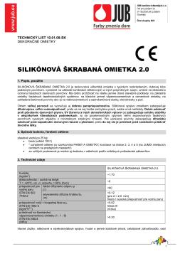 SILIKÓNOVÁ ŠKRABANÁ OMIETKA 2.0