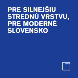 Volebný program SDKÚ-DS