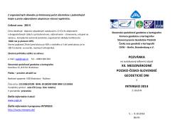 pozvánka xx. medzinárodné poľsko-česko