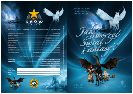 folder A3 do A4 swiat fantasy... - Teatr Show