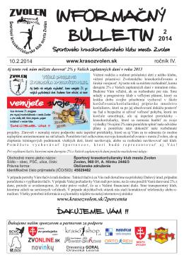 2/2014 - Športový krasokorčuliarsky klub mesta Zvolen