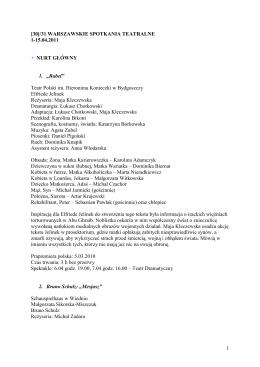 31. Warszawskie Spotkania Teatralne