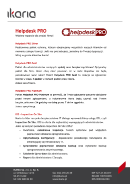 ulotką Helpdesk PRO - Nod