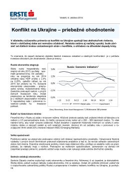 Konflikt na Ukrajine – priebežné ohodnotenie