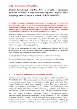 Pytania Powiatowych Urzędów Pracy w związku z ogłoszonym