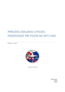 NOVÉ - Príručka základov leteckej frazeológie pre pilota na sieti IVAO