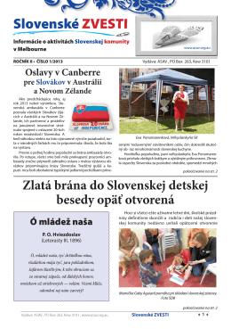 Slovenské ZVESTI