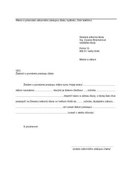 Žiadosť o povolenie prestupu žiaka . pdf