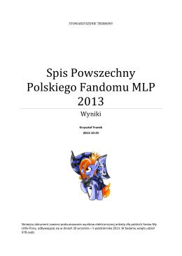 Spis Powszechny Polskiego Fandomu MLP 2013