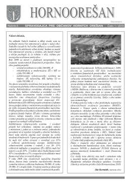 Hornoorešan - číslo 1/2010