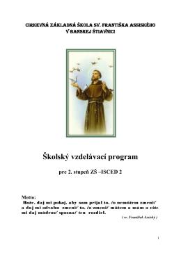isced2 - Spojená katolícka škola sv. Františka Assiského v Banskej